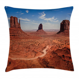 American Arizona Desert Throw Pillow Cushion Cover