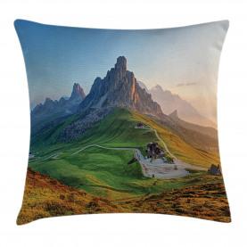 Sonnenaufgang in den Dolomiten Kissenbezug