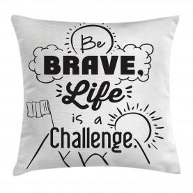 Sei mutig Motto Slogan Kissenbezug