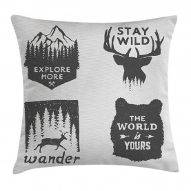 Quotes  Throw Pillow Case Stay Wild and Wander Cushion Cover
