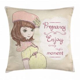 Schwangerschaft Motto Slogan Kissenbezug