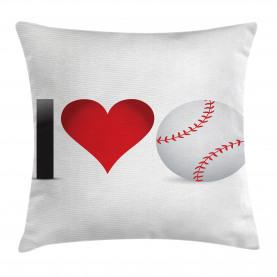 Ich liebe Baseball-Herz Kissenbezug