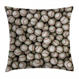 Baseball-Sport-Emblem Kissenbezug
