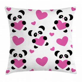 Liebe Pandas Herzen Kissenbezug