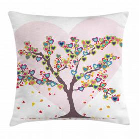 Baum mit Blättern mit Blumen Kissenbezug