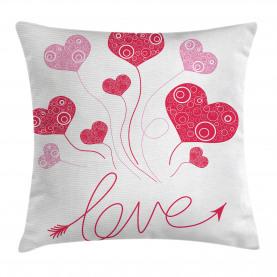 Liebes-Ikonen-Herz-Ballone Kissenbezug
