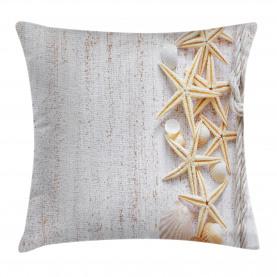 Ocean  Throw Pillow Case Seashells and Starfish Cushion Cover