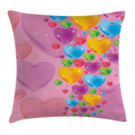 Liebe romantische Herzen Kissenbezug