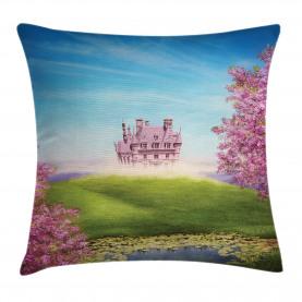 Fairy Castle Fröhliche Blüten Kissenbezug