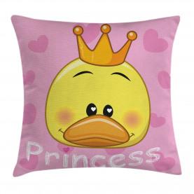 Prinzessin Duck mit Tiara Kissenbezug