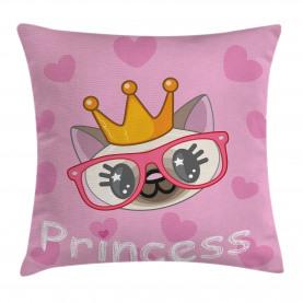 Glückliche Prinzessin Cat Kissenbezug