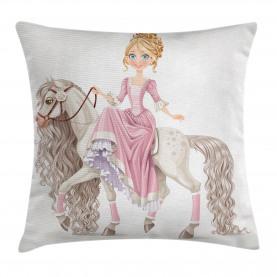 Prinzessin auf weißem Pferd Kissenbezug