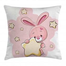 Kaninchen-Häschen mit einem Stern Kissenbezug