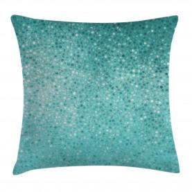 Blue  Throw Pillow Case White Polka Dot Mosaic Cushion Cover