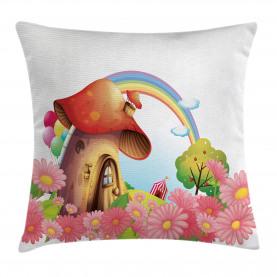 Pilz Haus im Garten Kissenbezug