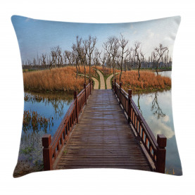 Wetland in Kunming Hike Throw Pillow Cushion Cover