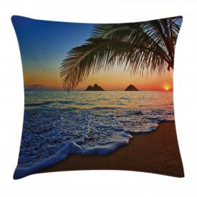 Hawaiian  Throw Pillow Case Sunrise Lanikai Beach Cushion Cover