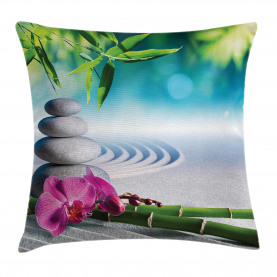 Spa Sand Orchidee Blume Kissenbezug