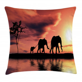 Africa  Throw Pillow Case Safari Wild Animals Cushion Cover