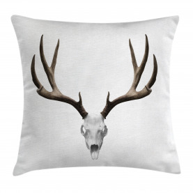 Antlers  Throw Pillow Case Deer Skull Skeleton Cushion Cover