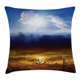 Sun Stormy Himmel Himmel Kissenbezug