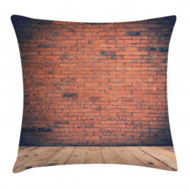 Stained Brick-Look Image Throw Pillow Cushion Cover