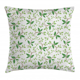 Fancy Ivy Green Blätter Kissenbezug