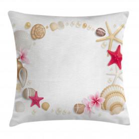 Seashells-Blumen-Stern Kissenbezug
