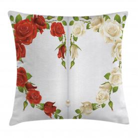 Herz-Blumenstrauß Romantisch Kissenbezug