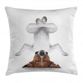 Hund auf den Kopf entspannen Kissenbezug