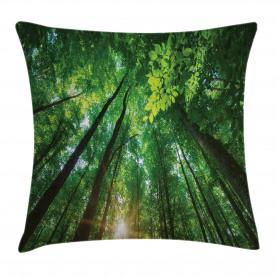 Vibrierende Sonnenstrahlen und Bäume Kissenbezug