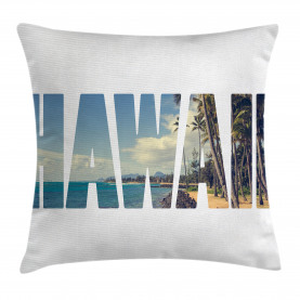 Tropical  Throw Pillow Case Hawaii Themed Artsy Cushion Cover