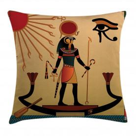 Egyptian  Throw Pillow Case Ancient Religion Icon Cushion Cover
