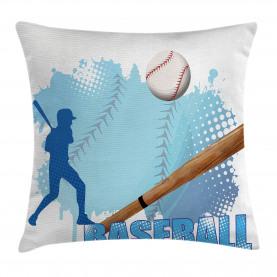 Baseball-Sport-Karikatur Kissenbezug