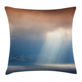 Beaming Sun Rays on Water Throw Pillow Cushion Cover