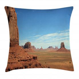 Monument Sand Desert Throw Pillow Cushion Cover
