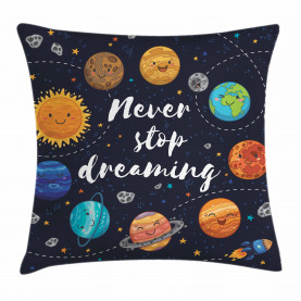 Quote  Throw Pillow Case Outer Space Star Cluster Cushion Cover