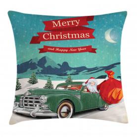 Weihnachtsmann im Oldtimer Kissenbezug
