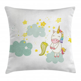 Unicorn  Throw Pillow Case Unicorn Fairies Print Cushion Cover