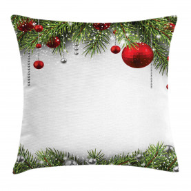 Christmas  Throw Pillow Case Baulbes Noel Tree Cushion Cover