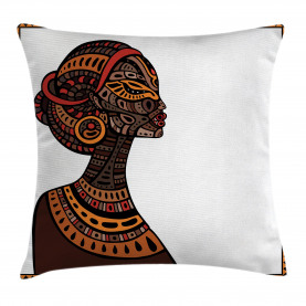 Tribal Exotic Totem Mask Throw Pillow Cushion Cover