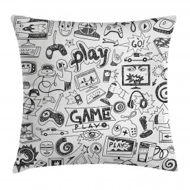 Video  Throw Pillow Case Games Black and White Cushion Cover