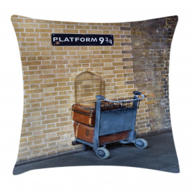 Wizard  Throw Pillow Case Secret Train Castle Way Cushion Cover