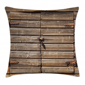Rustic  Throw Pillow Case Abandoned Vintage Farm Cushion Cover