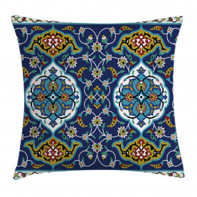Vintage  Throw Pillow Case Oriental Tile Effects Cushion Cover