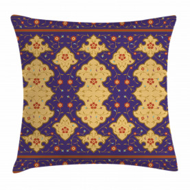 Moroccan  Throw Pillow Case Arabic Effected Border Cushion Cover