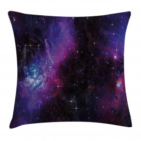 Space  Throw Pillow Case Nebula Dark Galaxy Stars Cushion Cover