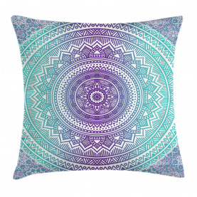 Blue  Throw Pillow Case and Purple Hippie Mandala Cushion Cover