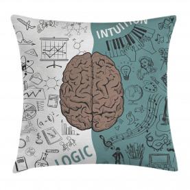 Modern  Throw Pillow Case Music Logic Brain Art Cushion Cover