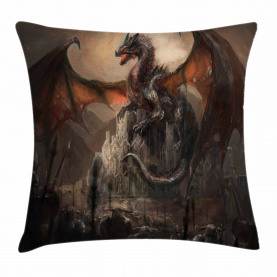 Medieval Fight Gothic Throw Pillow Cushion Cover